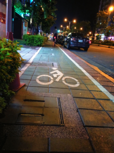 Conveniently marked bike lanes are throughout the city!