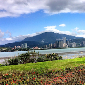 Stunning riverside views near Tamsui